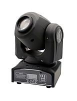 u'king® 30w 8pcs snowflower padrões efeito LED Spot movendo a cabeça fase luz dmx512 auto controle de voz preto para dj KTV xmas 1pcs