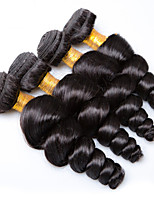 Natural Color Hair Weaves Brazilian Texture Loose Wave 12 Months 4 Pieces hair weaves