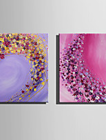 E-HOME Oil painting Modern Fluttering Colorful Flowers Pure Hand Draw Frameless Decorative Painting