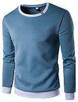 Sweatshirt Homme Décontracté / Quotidien Sportif Sortie Couleur Pleine Col Arrondi Micro-élastique Coton Manches Longues Printemps Automne