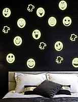 Cartoon Smiling Face  Luminous Wall Stickers Vinyl Material Home Decoration