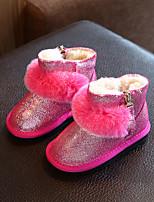 Черный Землянисто-желтый Красный-Дети-Для прогулок Повседневный-Дерматин-На низком каблуке-Обувь для малышей-На плокой подошве