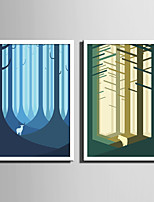 E-HOME® Framed Canvas Art Animals in The Forest Framed Canvas Print One Pcs