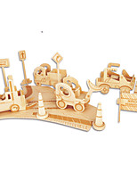 Jigsaw Puzzles DIY KIT Building Blocks 3D Puzzles Educational Wooden Construction Site Building Blocks DIY Toys Famous buildings