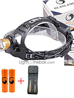 U'King® ZQ-X839GO#3-US 2* CREE XPE Natural/ UV Purple 4Mode Zoomable Multifunction Headlamp Bicycle Light Kit