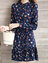 Women's Casual/Daily Loose Dress,Letter Round Neck Above Knee Short Sleeve Black Cotton Polyester Summer Mid Rise Micro-elastic Thin