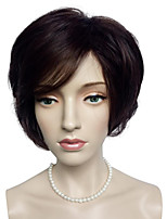 Capless Dark Auburn Wig Synthetic Fiber Wig Short Bob Women Party Wig