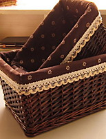 Boîte de Rangement Osier avecFonctionnalité est Ouvert , Pour Bijoux Sous-vêtement Shopping