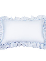 turqua PRINCESS ANNA Pillowcase 100% Cotton Decorative Border Frill Princess Style Baby Pink Blue Sleeping Pillow Cover