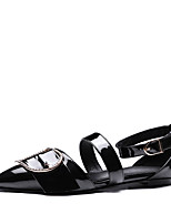 Sandals Summer D'Orsay & Two-Piece Comfort Patent Leather Party & Evening Dress Casual Flat Heel Buckle