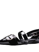 сандалии летом Орсэ&состоящий из двух частей патента кожи комфорта партия&вечернее платье случайные плоские пятки пряжки