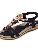Women's Sandals Spring Summer Fall Comfort Novelty PU Outdoor Office & Career Dress Casual Flat Heel Gore Walking