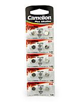 Camelion AG4 Кнопка монеты ячейки щелочные батареи 1.5В 10 шт