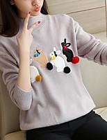 prendre la moitié col montant femmes en vrac dans la décoration de lapin mignon veste chandail manteau hiver chandail femme coréenne 2017