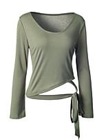 Damen Solide Street Schick Lässig/Alltäglich T-shirt,Rundhalsausschnitt Frühling Herbst Langarm Baumwolle Mittel
