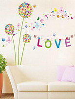 Cartoon Dandelion Wall Sticker Vinyl Material Home Decoration