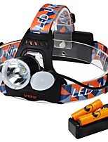 UKing ZQ-X851D-US CREE XML T6 /2*LED Headlamp 4 Mode 6000ML Lumens for Camping/Hiking/Caving Everyday Use Cycling