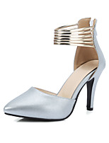 Heels Spring Summer Fall Club Shoes PU Wedding Office & Career Dress Stiletto Heel Zipper Hollow-out Green Pink White Beige