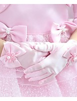 Girl Cotton Fingertips Wrist LengthSolid Party All Seasons