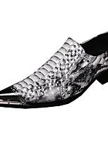 Herren-Flache Schuhe-Hochzeit Party & Festivität-Leder-Flacher Absatz-Komfort Neuheit-Weiß