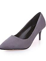 Черный Серый БронзаПовседневный-Полиуретан-На шпильке-Удобная обувь-Обувь на каблуках