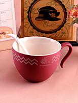Minimalism Drinkware, 220 ml Simple Geometric Pattern Ceramic Coffee Milk Daily Drinkware