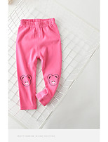 Girls' Going out Solid Pants-Cotton All Seasons Spring