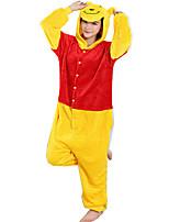 Кигуруми Пижамы Медведи трико/Комбинезон-пижама Фестиваль / праздник Нижнее и ночное белье животных Хэллоуин Желтый ФланельКосплэй