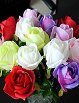 1 Ramo Plastica Rose Fiori da tavolo Fiori Artificiali