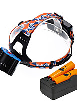 U'King ZQ-X806E-Blue-US Cree XM-L T6 LED 6000LM 4 Mode Headlamps Kits Camping/Hiking/Caving Everyday Use Cycling/Bike Hunting Traveling Multifunction
