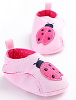Baby Flats Spring Fall First Walkers Fabric Outdoor Casual Low Heel White Gray Pink Walking