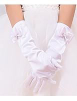 Flower Girl Cotton Fingertips Wrist LengthSolid Party All Seasons