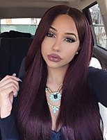 billig remy 99j rot ombre 8to26 Zoll seidige gerade gelockte indische virign menschliches Haar vor glueless volle