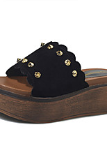 Slippers & Flip-Flops Summer Creepers Fleece Outdoor Dress Casual Wedge Heel Rhinestone Walking