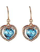 Drop Earrings Crystal Crystal Heart Dark Blue Jewelry Daily Casual 1 pair