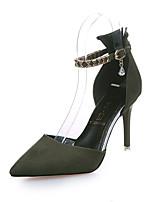 Черный Зеленый КрасныйДля прогулок-Полиуретан-На шпильке-Удобная обувь-Обувь на каблуках