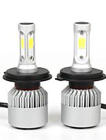 2Pcs/Set H4 36W 80000LM Hi/Low Beam Car LED Headlights Bulbs Fog Lighting Lamps H4 Hi/Lo Led Auto Car Head Lightings