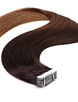 neitsi t2 / 8 # 20 '' 50g pele fita Remy trama ombre na reta extensões de cabelo humano 20pcs / pack
