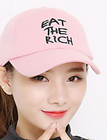 Women Cotton Spring Summer Alphabet printing embroidery Dome Sun Outdoor Sports Basebal Hat