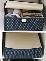 Storage Boxes Textile withFeature is Lidded  For Underwear Thickened Underwear Storage Box Random Pattern And Color