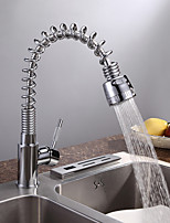 Modern Tall/High Arc Pull-out/Pull-down Kitchen Faucet Standard Spout Centerset Thermostatic Rain Shower Basin Faucet
