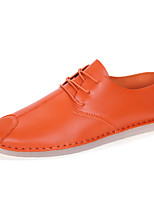 Для мужчин-Для офиса Повседневный Для вечеринки / ужина-Кожа-На плоской подошве-Удобная обувь-Мокасины и Свитер