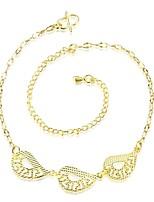 Bracelet de cheville/Bracelet Forme de Feuille Amitié Mode Vintage Bohême Style Punk Hip-Hop Turc Cuivre Plaqué or Or jaune Aux femmes