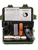 U'King ZQ-X1017GO#-US CREE XML T6 2000LM 5Modes Zoomable Clip Flashlight Torch Kit with Battery and Charger