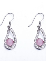 Drop Earrings Zircon Cubic Zirconia Bow Candy Pink Jewelry Daily Casual 1 pair