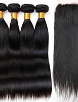 One Pack Solution Cheveux Brésiliens Droit 12 mois 5 Pièces tissages de cheveux