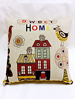 1 pcs Cotton/Linen Pillow Case,Graphic Prints Accent/Decorative Outdoor Modern/Contemporary Country Casual