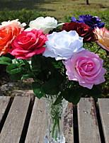 1 Ramo Plástico Rosas Flor de Mesa Flores artificiais 10*10*43