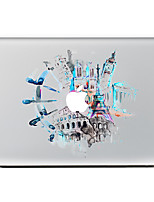 For MacBook Air 11 13/Pro13 15/Pro With Retina13 15/MacBook12 Watercolor City Decorative Skin Sticker