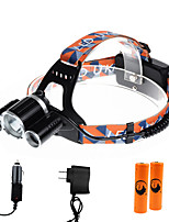 U'King® ZQ-X820C-EU CREE XM-L T6/2*R5 Headlamp 5000LM LED 4 Mode for Camping Hiking Bike Outdoor Red light